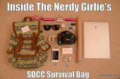 The Nerdy Girlie: Inside The Nerdy Girlie's San Diego Comic Con Survival Bag