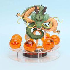 anime Dragon Ball Z Action Figures Shenron Dragonball Z Figures Set Esferas Del Balls+Shelf Figuras DBZ - GamingOnAir. Anime Dragon, New Dragon, Dbz, Figurine Dragon, Anime Gifts, Anime Toys, Beautiful Figure, Animation, Cosplay