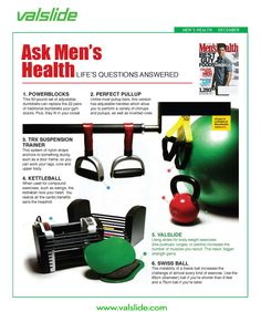 a11434ab3c34 Men s Health shares their recommended fitness gear.  Valslide   MensHealthMagazine  FitnessGear Fitness Gear