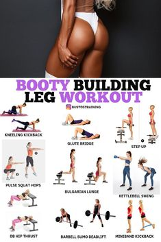 Home Fitness Bodybuilding - Booty Building Leg Workout! - Home Fitness Bodybuilding – Booty Building Leg Workout! Fitness Workouts, Leg Workouts For Men, Fitness Motivation, Fitness Workout For Women, Body Fitness, Fun Workouts, Glute Workouts, Physical Fitness, Back Workout Women