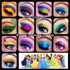 Cool Disney eye makeup looks!