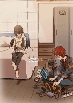 Immagine di gif, mystic messenger, and luciel choi