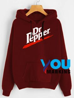 Dr Pepper Logo Hoodie - Graphic Mens and Womans Cut Up Shirts, Band Shirts, Tomboy Outfits, Emo Outfits, Punk Fashion, Lolita Fashion, Rocker Outfit, Hooded Sweatshirts, Hoodies