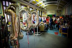 130th birthday balloons at Crown Street Library, October 2015