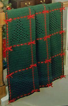 Christmas Tree Afghan
