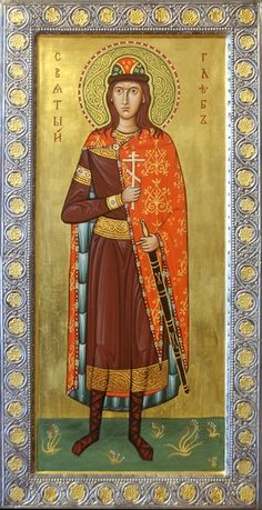 Icon of saint Prince Gleb by Philip Davydov. 2008