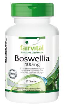 Boswellia Weihrauch 400mg von Fairvital - Bioaktive Vitalstoffe