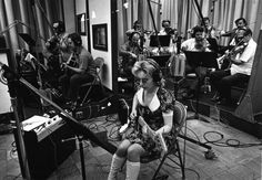 """Bassist Carol Kaye in the studio, 1974 Carol Kaye was part of """"The Wrecking Crew"""": """"The Wrecking Crew were a group of Studio Musicians in Los Angeles in the who played on hits for the """"Beach Boys,. Guitar Guy, Jazz Guitar, Guitar Tabs, Guitar Logo, Guitar Tattoo, Guitar Players, Nancy Sinatra, Brian Wilson, Joe Cocker"""