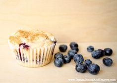 gluten-free Blueberry muffins from designdininganddiapers.com #blueberry #recipe #gluten-free