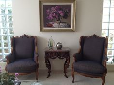 Diamond 422 Navy fabric on chairs from designer Dwell by Jo