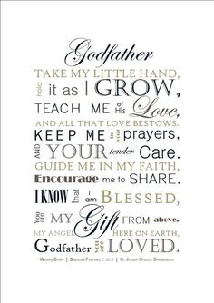 DIGITAL FILE: Godfather Gift Godmother Gift by SayitinStyleArt