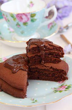 Tortitas americanas de chocolate