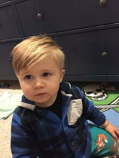 Cute baby boy haircut