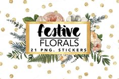 Festive Florals PNG stickers @creativework247