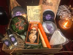 Your place to buy and sell all things handmade Candle Magic, Candle Spells, Witch Rings, Star And Moon Necklace, Box Uk, Witch Spell, Witch Jewelry, The Conjuring, Rose Petals