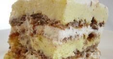 Un dulce excelent, mai ales dupa o noapte de odihna in frigider. :) Ingrediente 8-10 albusuri+ 8-10 linguri de zahar+ 1lingura de faina + 6... Mai, Tiramisu, Ethnic Recipes, Food, Essen, Meals, Tiramisu Cake, Yemek, Eten