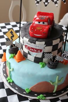 Can I have this one?  Cars Birthday Cake