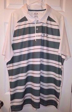 Mint Oakley Hydrolix Men's Golf Shirt Size XXL 2XL Regular Fit #Oakley #PoloShirt