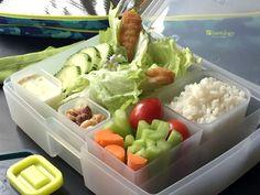 bento, lunch, kids, fun, leftovers, wrap, fish, sticks, lettuce, tartar, sauce, rice, bentology