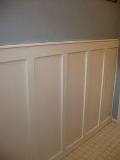 bathroom walls...hallway panels