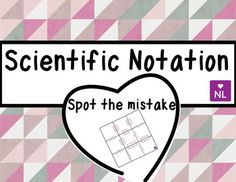 Scientific Notation (Spot the Mistake)