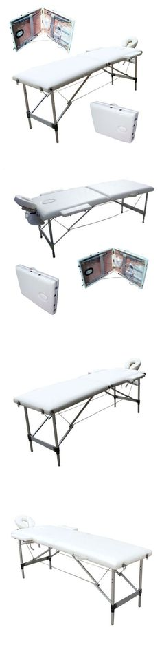 Massage Tables and Chairs: Aluminum 2 Fold Portable Facial Spa W Beauty Bed Massage Table Carry Case White -> BUY IT NOW ONLY: $75.9 on eBay!