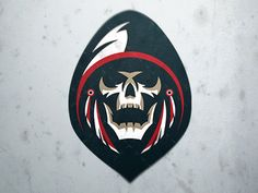 Grim Mascot Logo | Logos, Sports logos and Art logo