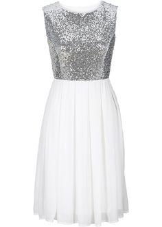 Kleid, BODYFLIRT, weiß/silber