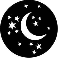 Rosco 78121 Steel Gobo, Moon and Stars Moon Coloring Pages, Event Decor Direct, Decoupage, Laser Cutting Machine, Shaped Cards, Small Canvas, Driftwood Art, Black And White Design, Equine Photography