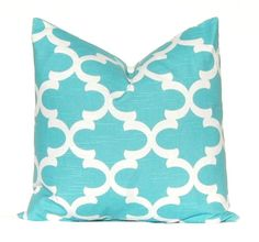 Turquoise Pillow, Aqua Pillow Cover, Decorative Throw Pillow Cover  Brown and Aqua Spirit Blue Cushion Cover Toss Pillow One All Sizes by CompanyTwentySix on Etsy https://www.etsy.com/listing/180565584/turquoise-pillow-aqua-pillow-cover