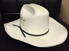 Mens Country Western Straw Sz L   XL 8 White Cowboy Hat w  1a28adb98a94
