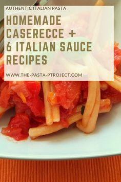 Italian Homemade Casarecce Pasta is a traditional flour and water pasta from Sicily. It's easy to make at home and delicious with many Mediterranean pasta sauces such as different pesto, caponata, peperonata or just homemade tomato sauce. Make it by hand or using a pasta dough press (torchio) #thepastaproject #traditionalpasta #italianpasta #homemadepasta #thepastaproject Homemade Tomato Sauce, Homemade Pasta, Sauce Recipes, Pasta Recipes, Pasta Sauces, Lunch Snacks, Healthy Snacks, Mediterranean Sauce, Pasta Types