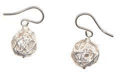 Silver Bauble Earrings