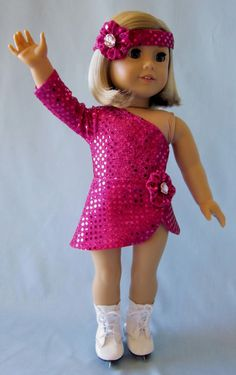 American Girl Doll Clothes Skating Costume by SewMyGoodnessShop