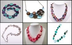 Creative Accessories With Buttons necklaces