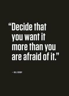 Facing fear is the best thing you can do for you future!