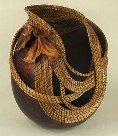 Gourd art by Judy Richie, Red Cloud Originals Member Texas Gourd Society