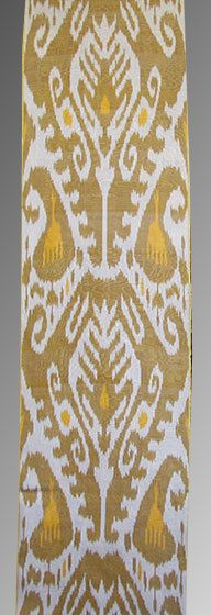 silk ikat - fabric for the table runners or for the flower jars?for chairs