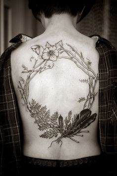 Frame work idea for nature tattoo