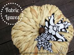 DIY Fabric leaves