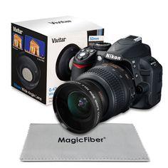 52MM 0.43X Wide Angle Macro Lens for Nikon D7100 D5500 D5200 D5100 D3200 D3100