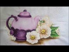 Pintura em tecido. Aula completa, cesta, rosa, folha. - YouTube