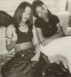 Aaliyah & Brandy, back in da days...R.I.P Aaliyah