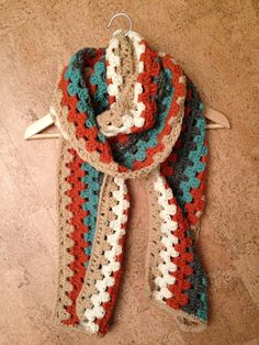 Granny Square Scarf. $30.00, via Etsy. ---- want to make a scarf like this ... But need a free pattern, grrr.