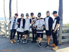 [Naver] BTS @ Behind the scene July 2014 LA filming for AHL show - Santa Monica 3rd st promenade