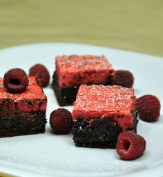 Ingredients – 1 box DCD Truffle Fudge Brownie Mix, prepared using recipe on box. – 1 packet DCD Raspberry Daiquiri Mix – 8 oz softened cream cheese – 1 egg