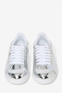 Jeffrey Campbell Silver Sneaker