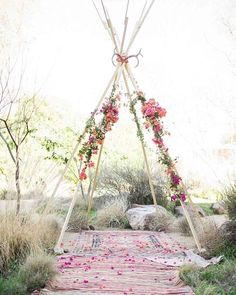 Why have an wedding arch when you can have a wedding tipi 🌸✨ Photo @nbarrettphoto @bowsandarrowsflowers @chadpic @chandlerfarms