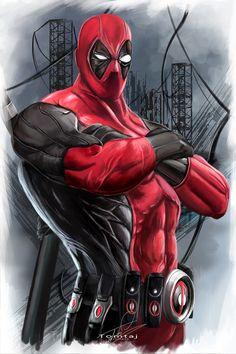#Deadpool #Fan #Art. (Deadpool) By: Tomtaj1. (THE * 5 * STÅR * ÅWARD * OF: * AW YEAH, IT'S MAJOR ÅWESOMENESS!!!™) ÅÅÅ+