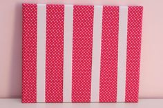 Hot Pink with Small White Dots Hairclip Board